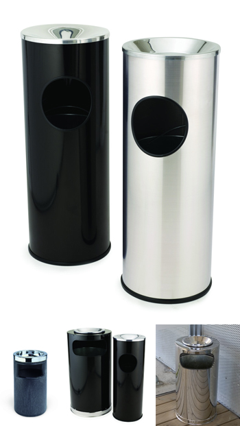 round steel-smoking-bins