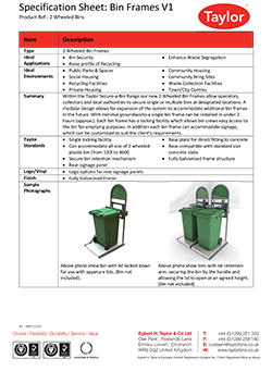 Spec Sheet 4W Bin Frames thumb
