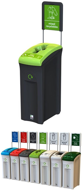 midi 82 litre office recycling bins