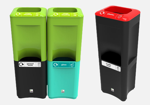 Stackable Office Recycling Bins