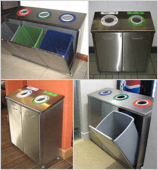 stainless steel recycle station 2 3 way