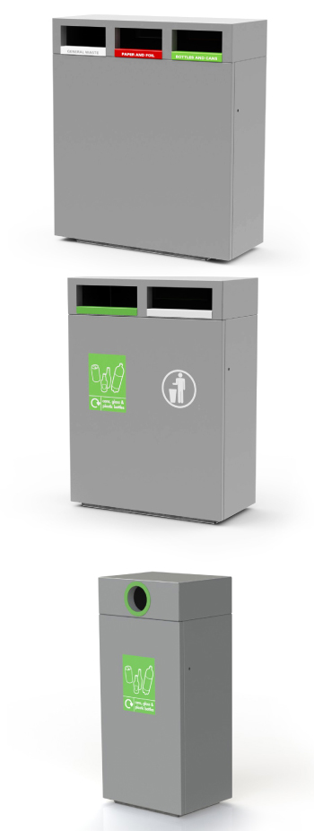 steel-3-way-recycle-bin-outdoor
