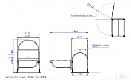 wheelie bin frame 4 wheels dimensions