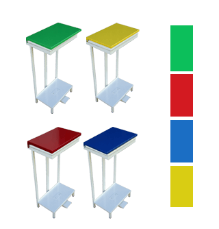 open type pedal bins colour options