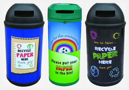 Paper Recycling Theme Bin