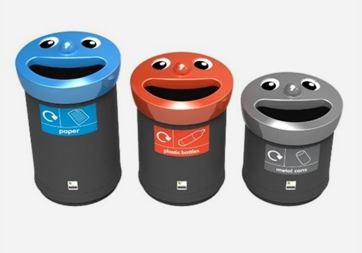Novelty Smiley Face Bins