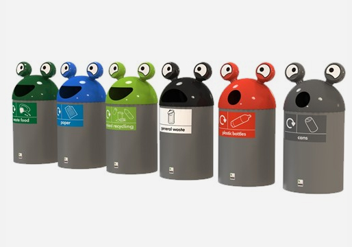 SpaceBuddy Recycling Bins